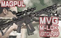 M-LOK対応のMAGPULバーティカルグリップ