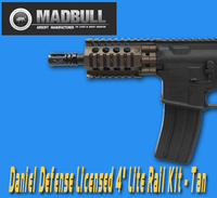 【入荷情報】MADBULL DANIEL DEFENSE 4インチ AR-15 Lite Rail Kit FDE
