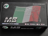 WE New System M9A1 GBB Pistol Semi&Auto Ver. (Black)