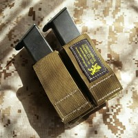 Dual 9mm Mag Pouch w/Kydex