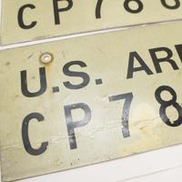 米陸軍 車両用ナンバープレート入荷