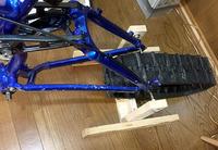 自作の「高軌道自転車」11 リアとスイングアーム周り