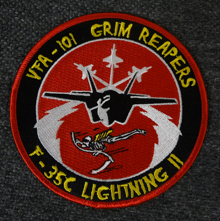 米海軍F-35Cライトニング部隊パッチ