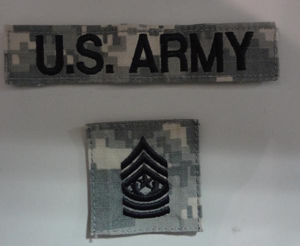 米陸軍・階級パッチ