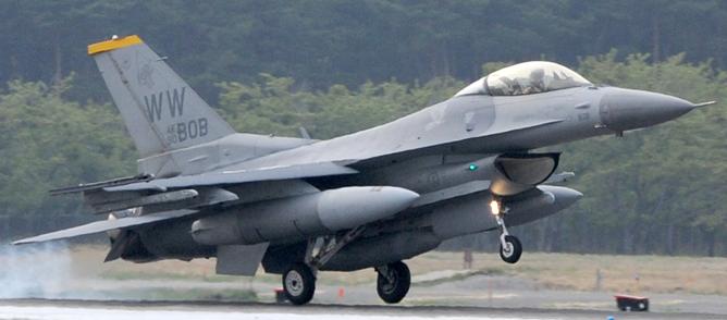 F-16戦闘機のシリアル