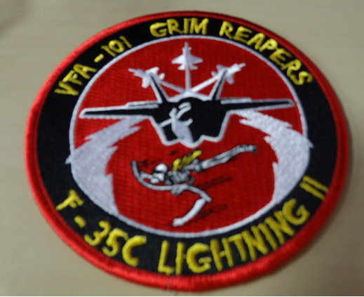 F-35C Type Lightniing II VFA-101 Patches
