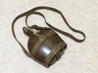 実物 日本陸軍:ロ号水筒(九九式水筒)・ロ号口栓・昭五式水筒紐呂号