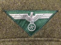 カンプバタリオン!!製 複製 / レプリカ:WWIIドイツ陸軍 下士官兵用 BEVO製国家鷲章 1944年型