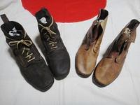 旧日本軍 実物 昭5式編上靴 について! やはり減っていますね。