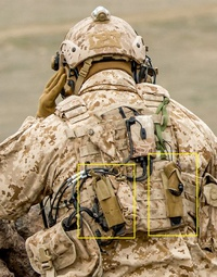 WARRIORS-2695「装備の背中の定番」
