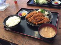 チキンカツ定食【万里食堂】(´Д`)