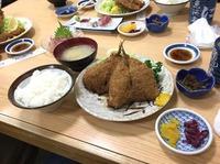地あじフライ定食【にし与】(´Д`)