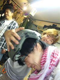 ヘルメットが・・・