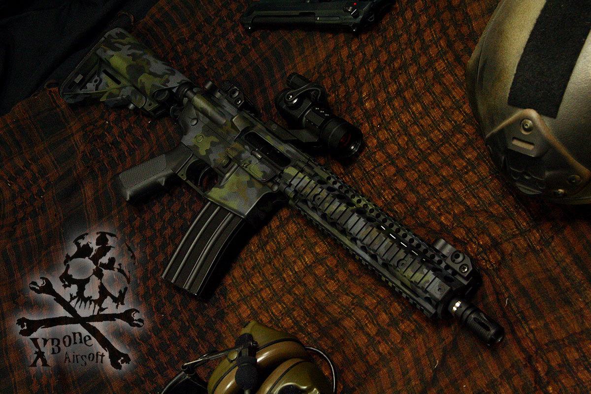 M4 マルチカム 塗装