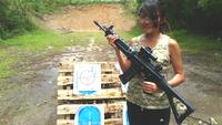 12歳美少女の射撃センスに驚き!