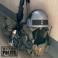 横浜市警仕様のテッパチ【ベルクロの型紙編】