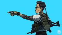 イラスト「横浜市警察SWAT」のコンセプト