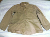 日本軍 陸軍 将校用 軍衣 夏綿製(兵用軍衣生地)