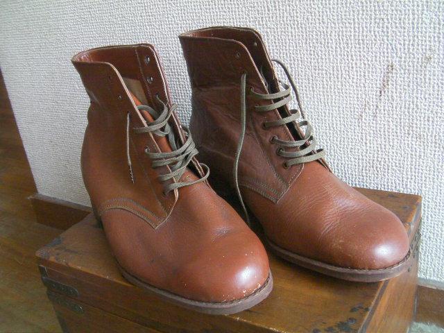 日本陸軍軍装品:日本軍 陸軍 将校用編上靴