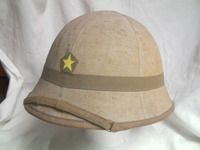 日本陸軍 防暑帽  白地