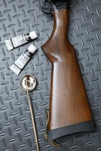 M870偽ウッドストック塗装メンテ!