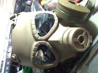 ガスマスク型ファン付きフルフェイスゴーグル